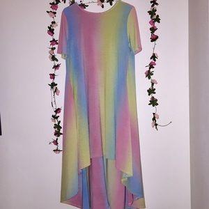 Pastel Rainbow T-Shirt Dress